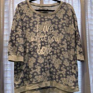 Sonoma 3/4 sleeve sweatshirt